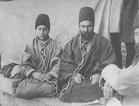 Mirzá 'Alí-Muhammad-i-Varqá and his son, Rúhu'lláh