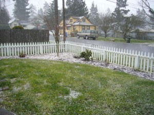 A hailstorm in Tacoma.