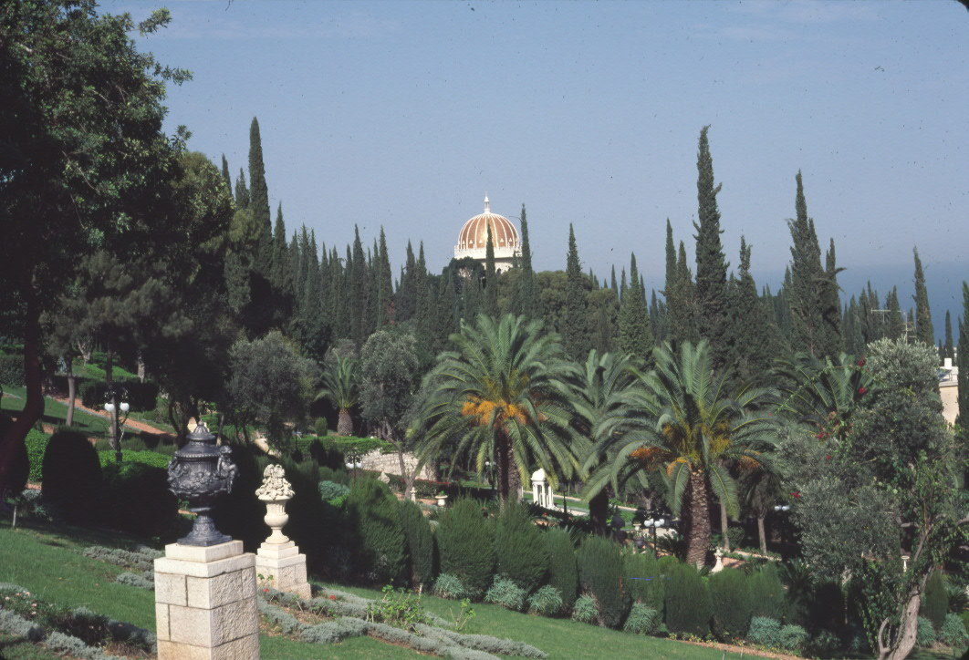 The Shrine of the Báb and the Monument Gardens in Haifa, Israel