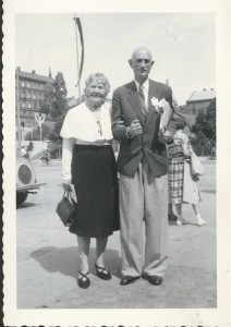 Hand of the Cause Ugo Giachery with his dear wife, Angeline, taken by Elizabeth at a conference in Stockholm in 1953.