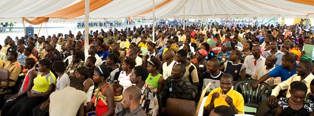 Some 750 Baha'is from Zambia, Malawi, and Zimbabwe gathered in Lusaka, Zambia, for the first of 41 regional Baha'i conferences to be held over the next four months.