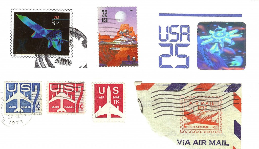 Space and aviation stamps