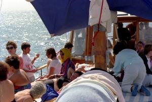 Staff members off shore of Eilat