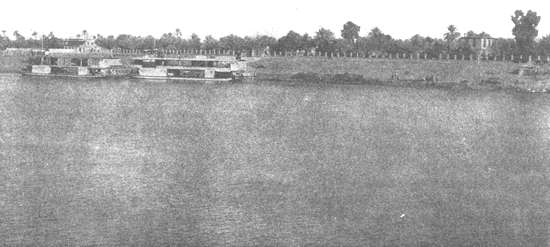 An old view of the Ridván Garden in Baghdad, where Bahá'u'lláh made the public declaration of His station in 1863.