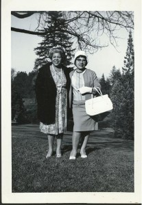 Eulalia Bobo, left, with unidentified friend, in Tacoma.
