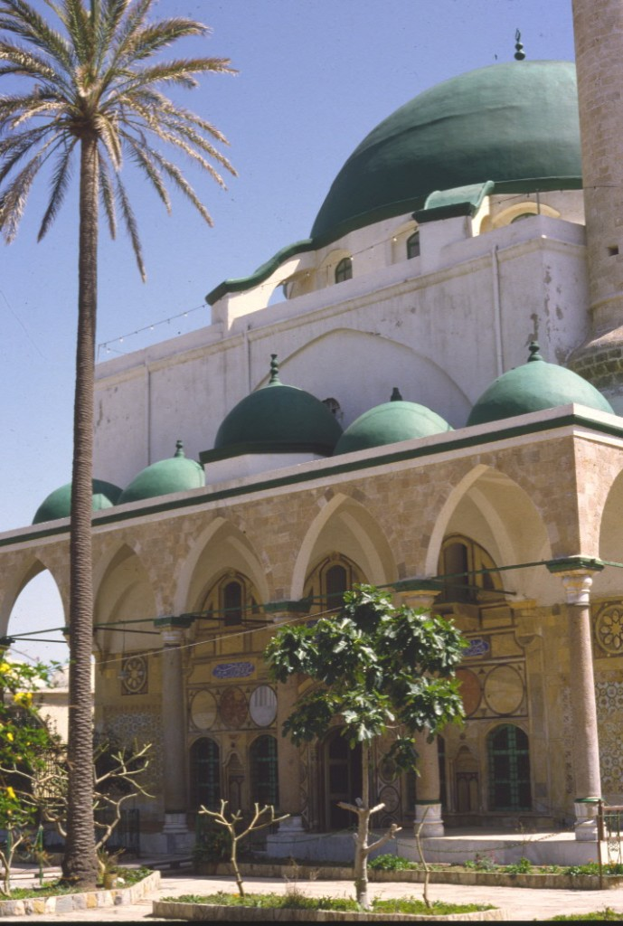 The front of the principal mosque in Akka, Israel