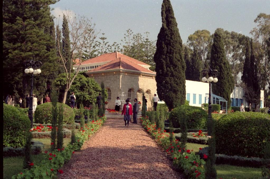 Pilgrims visit the Shrine of Bahá'u'lláh